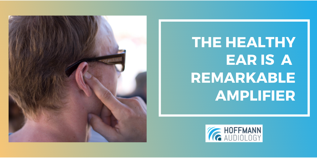 The Healthy Ear Is a Remarkable Amplifier